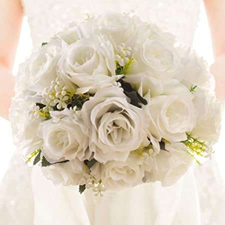 Bouquet Sposa Con Rose Bianche.Airymap Bouquet Da Sposa Con Rose Bianche In Cristallo Bouquet