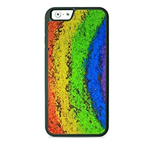 Case Fun Case Fun Rainbow Chalk Dust TPU Rubber Back Case Cover for Apple iPhone 6 4.7 inch