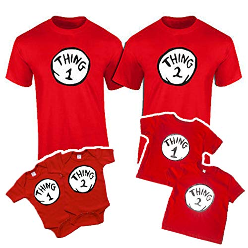Onesie and Toddler Thing 1,2,3,4,5,6,7,8,9,10 Funny T-Shirts (NB