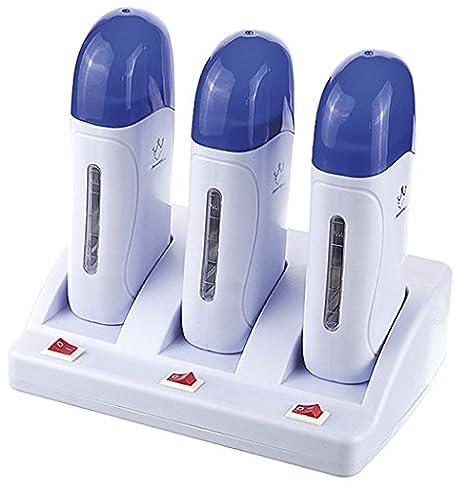 Crisnails® Calentador de Cera Tibia, Roll On Cera Fría, Depilación Profesional (Amarillo 1T): Amazon.es: Salud y cuidado personal