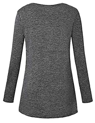 Luranee Womens Yoga Tops Long Sleeve Crew Neck Casual Loose Gym Sport Shirts