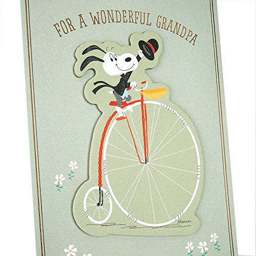 Hallmark Father's Day Greeting Card for Grandpa from Child or Teen (Peanuts Snoopy Riding a Bike) Photo #7