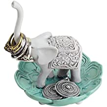 Evelots Elegant Good Luck Elephant Jewelry Ring Holder, Jewelry Stand