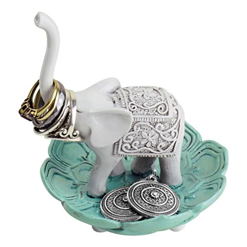 Animal Lover Pin Set - Evelots Ring Holder-Good Luck Elephant-Jewelry Bowl/Stand-Earring/Necklaces