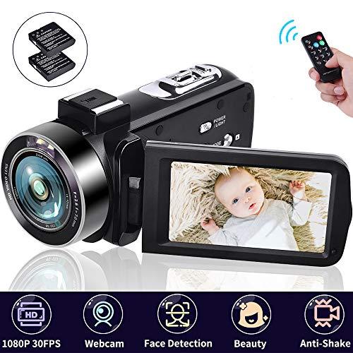 Camcorders Video Camera 18X Digital Zoom Volg Camera 1080P 30FPS Vlogging Camera Digital Camcorder with Two Batteries