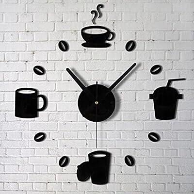 Iuhan® Fashion Acrylic DIY Self Adhesive Interior Wall Creative Decoration Clock