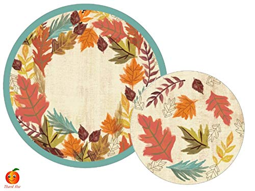 Autumn Greeting Paper Plates for Fall Party Themes by Peach State
