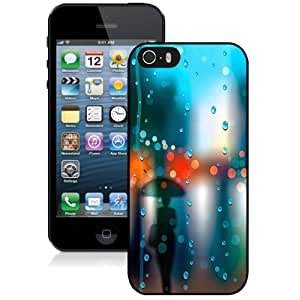 Beautiful Designed Case For iPhone 5S Phone Case With Woman Silhouetted In The Rain Phone Case Cover