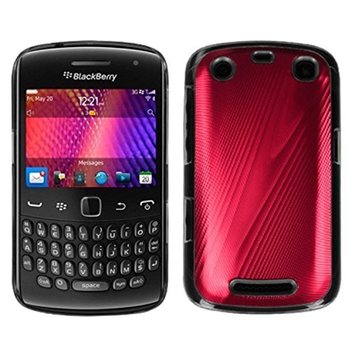 MYBAT BB9360HPCBKCO005NP Premium Metallic Cosmo Case for BlackBerry Curve 9360-1 Pack - Retail Packaging - Red