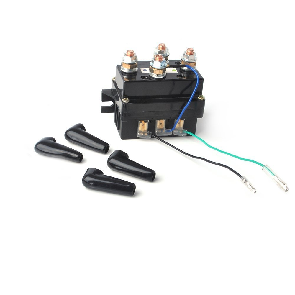 12V 500A Winch Solenoid Contactor Replacement - ATV/UTV Winch Relay for 6000lbs-12000lbs Winch
