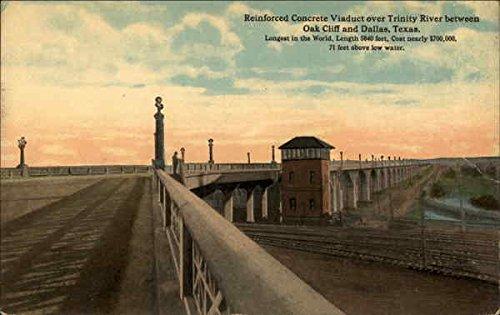 Reinforced Concrete Viaduct Oak Cliff, Texas Original Vintage Postcard