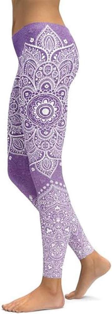 LUOSI Leggings Pantalones De Yoga Leggings De Mujer Mandala Sin Costuras Ropa Deportiva De Mujer Gimnasio Legging Push Up Ropa Deportiva Pantalones El/ásticos Delgados For Correr Yoga