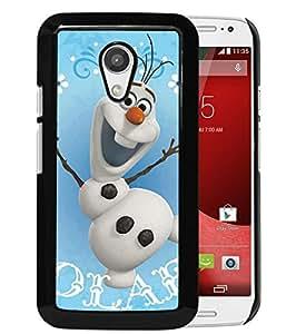 Popular Custom Designed Cover Case With OLAF Snowman Black For Motorola Moto G 2nd Generation Phone Case