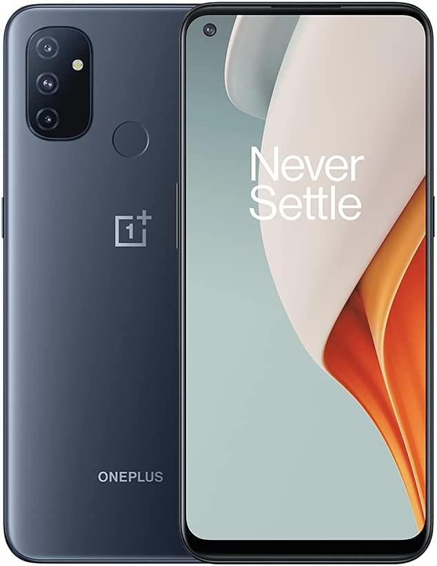 "OnePlus Nord N100 (64GB, 4GB) 6.52"" 90Hz Display, Snapdragon, 5000mAh, Dual SIM GSM Unlocked Global 4G LTE (T-Mobile, AT&T, Metro, Straight Talk) International Model (Midnight Frost, 64GB SD Bundle)"