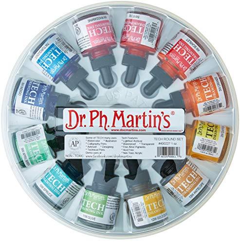 Ink Drawing Sets - Dr. Ph. Martin's TECH Drawing Ink (Set 1) Ink Bottle, 1.0 oz, Set 1, 1 Bottle