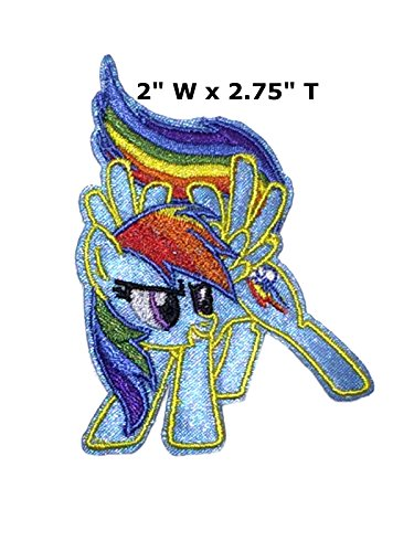 My Little Pony Rainbow Dash Cartoon Embroidered Sew or Iron-on Patch Badge DIY Application (Easy My Little Pony Adult Costumes)