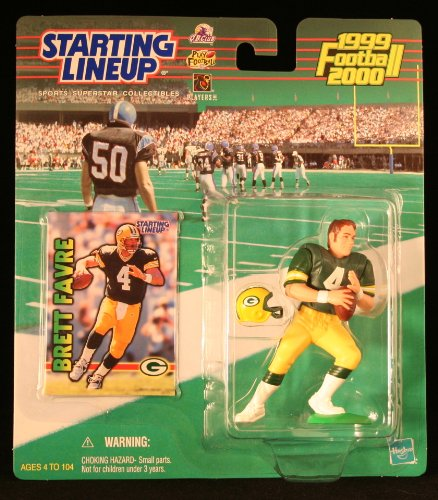 (BRETT FAVRE / GREEN BAY PACKERS 1999-2000 NFL Starting Lineup Action Figure & Exclusive NFL Collector Trading Card)