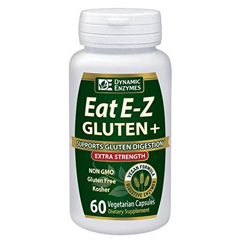 Eat E-Z Gluten+ (60 vegan capsules) – Gluten digestion, Leaky gut, DPP VI, Proteases, Non-GMO, Plant based