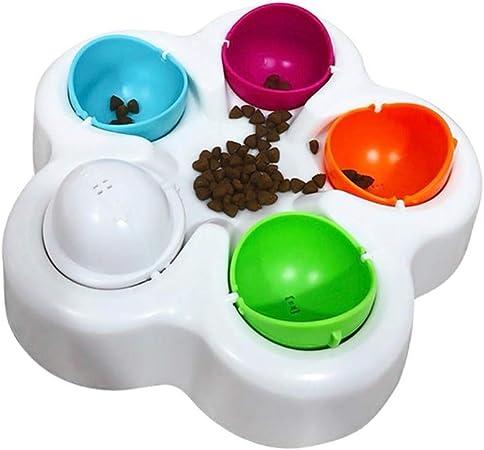 Pet IQ juguetes educativos para perros, juguetes para gatos, juguetes inteligentes que buscan comida lenta comedero cuencos antiácaros comederos perro herramientas de entrenamiento interactivo, 2 piezas: Amazon.es: Hogar