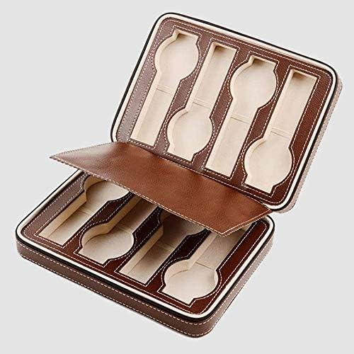 LYYJIAJU Multi-Funzione di vigilanza dei monili Box Box Brown Portatile Guarda Bag 8-Bit Zipper, Guarda Storage Bag Box, Famiglia Semplice, Zipper Caso