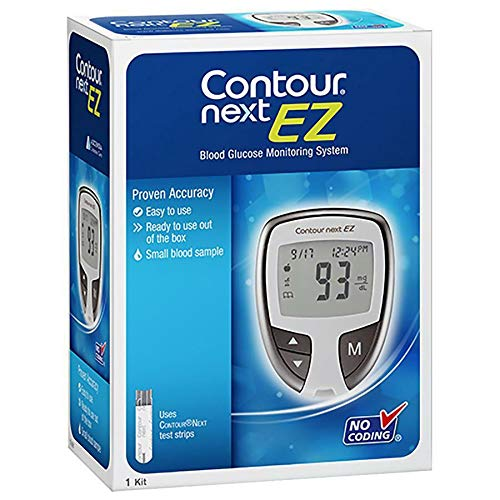 Contour Next EZ Blood Glucose Monitoring System Including 10 Tests Strips (06/31/2020)