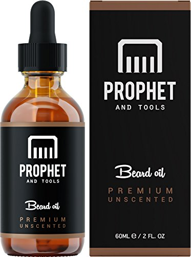Best Selling Premium Beard Oil Now in 60ML – for Fuller Beards, Mustache & Goatee Growth Oil – Leave-in Conditioner and Softener – 100% Natural & Organic Mens Facial Hair Product – Prophet and Tools