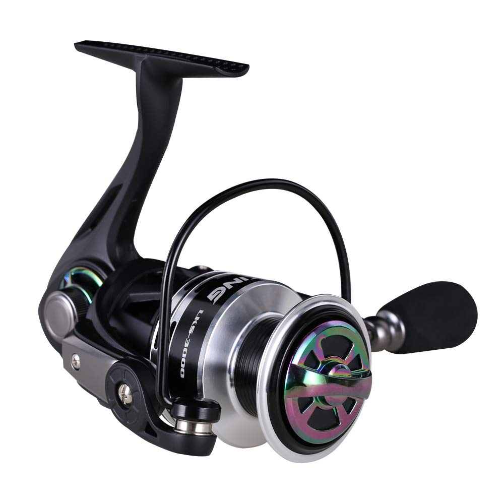 Kingdom Spinning Fishing Reel – Lightweight and Smooth, Premium Aluminum Throwing Line, 9 1 Ball Bearings – Spinning Reels for Ice and Freshwater Fishing