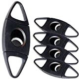 Black Plastic Guillotine Cigar Cutter - 5 Pack by Prestige Import Group