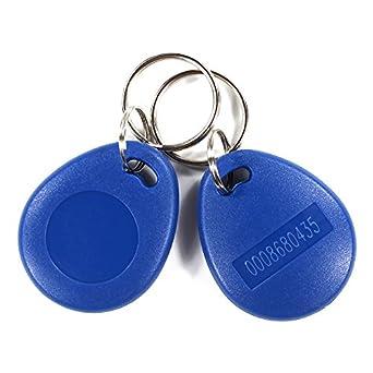 10 piezas EM4100 proximidad llavero etiqueta ABS Keyfobs ...