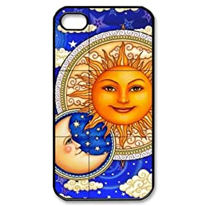 T-TGL(RQ) Unique Design Sun Moon Pattern Pattern Protective Cell Phone Case for Iphone 4/4S
