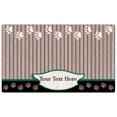 Drymate Placemat (Drymate Personalized Pet Place Mat - Green Tan Paw - Personalized Pet Food Mat)