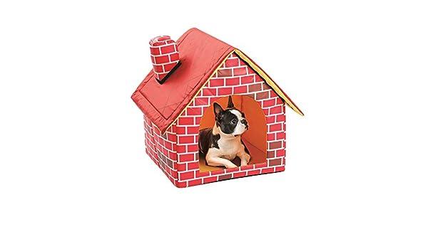 Radiancy Inc - Caseta para mascotas de ladrillo rojo extraíble para casa de chimenea, portátil, cálida y cómoda casa para perros: Amazon.es: Productos para ...