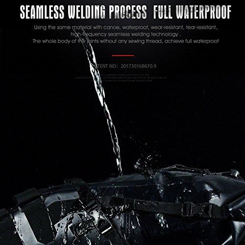 Roful RHINOWALK 10L 100% Waterproof Saddle Bike Bag Package for Bicycle Cycling (Gray) by Roful (Image #3)