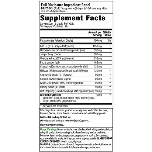 Irwin Naturals Bloat-Away Relief Water Balance Support Replenish Electrolytes & Essential Minerals - 60 (180 Total) Soft-Gels - 3 Pack Bundle with a Lumintrail Pill Case by Irwin Naturals (Image #1)
