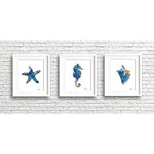 51X1LFFMM7L._SS300_ Seahorse Wall Art & Seahorse Wall Decor