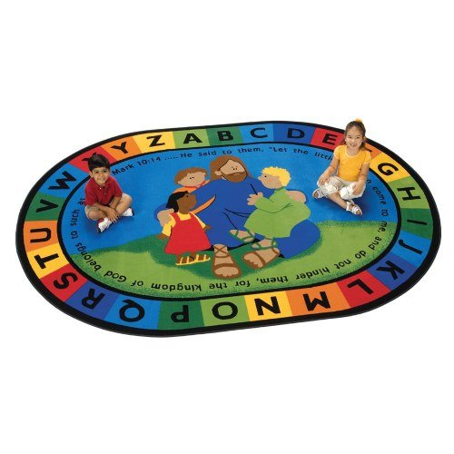 Carpets for Kids 72007 Jesus Loves the Little Children Carpet-8' x 12' 8' x, 7'8'' x 10'10'', Multicolored by Carpets for Kids