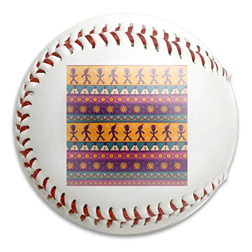 Atance Colorful Aztec Seamless Pattern Personalized Low Impact Safety Softball Baseball for Indoor and Outdoor Training (Aztec Pitching Machine)