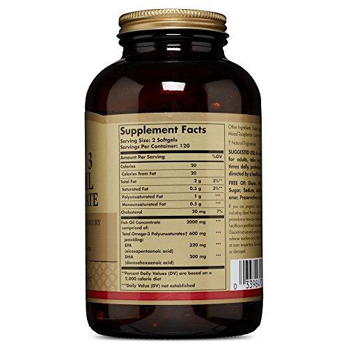 Solgar – Omega-3 Fish Oil Concentrate, 240 Softgels