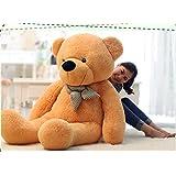 VerC Art bel regalo peluche orso gigante Gentleman Orso Peluche Bambola marrone chiaro