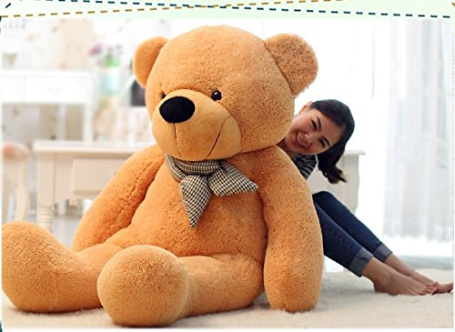 VERCART 4 Foot 47 inch Light Brown Giant Huge Cuddly Stuffed Animals Plush Teddy Bear Toy Doll