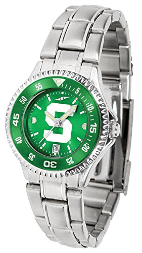 Michigan State Spartans Competitor Steel AnoChrome Women's Watch - Color Bezel ()