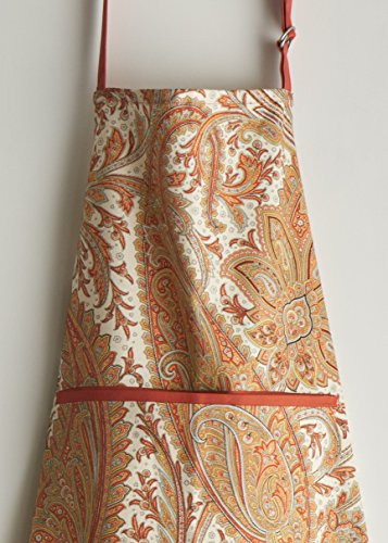 Maison d' Hermine Kashmir Paisley 100% Cotton Apron with an adjustable neck & hidden center pocket, 27.50 - inch by 31.50 - inch by Maison d' Hermine (Image #2)