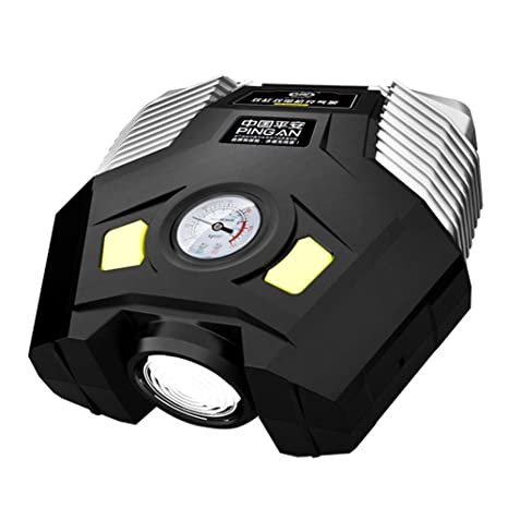 Compresor De Aire Portátil Bomba 12v Multifunción Con Pantalla LED Digital Para Coches y Bicicletas