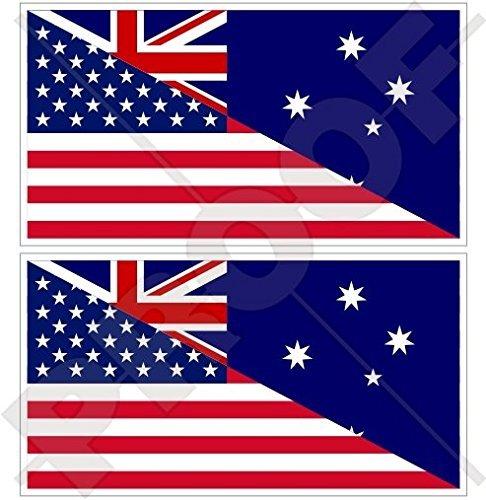 (USA United States of America & AUSTRALIA American-Australian Flag 3