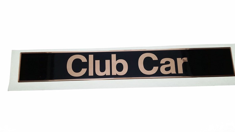 * OEM *ゴールドClub Car Precedent名前プレートロゴ – スチールBacked粘着   B01B3ENW1A