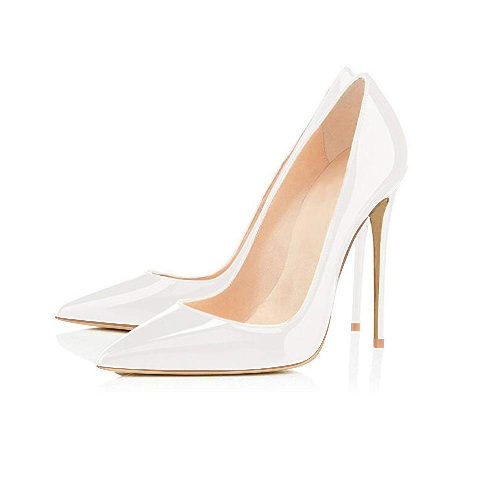 Womens Pointed Toe Slip on Stilettos Party Wedding Pumps Basic Shoes Elisabet Tang High Heels