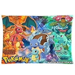 Ur pillowcase Hot Sale Custom Pokemon Poster Zippered Pillow Case 20x30 (Twin Sides Print)