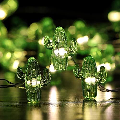 Lightingift Crystal Cactus String Lights, 18.7 Ft 40