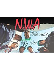 "NWA N.W.A. rap legends reprint signed autographed 12x18"" poster photo #1 RP Straight Outta Compton"