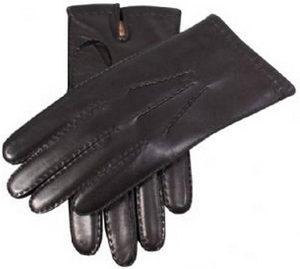 Black Dents Mens Cashmere Lined Chelsea Leather Gloves